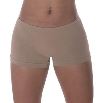 Kit 3 Calcinhas Boxer Selene Sem Costura Feminina - Chocolate