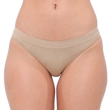 Kit 3 Calcinhas Selene Biquíni Sem Costura Feminino - Nude