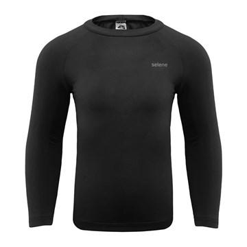 Kit 3 Camisas Térmicas Selene Proteção UV ML Juvenil - Marinho/Preto/Oceano
