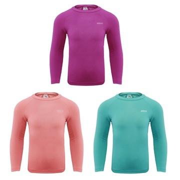 Kit 3 Camisas Térmicas Selene Proteção UV ML Juvenil - Pink/Salmão/Oceano