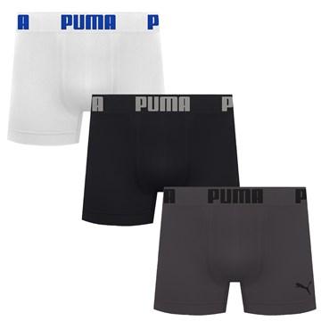 Kit 3 Cuecas Boxer Puma Sem Costura Masculino