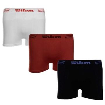Kit 3 Cuecas Boxer Wilson Microfibra Sem Costura Masculino