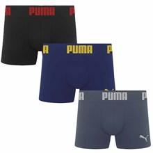 Kit 3 Cuecas Puma Boxer Sem Costura
