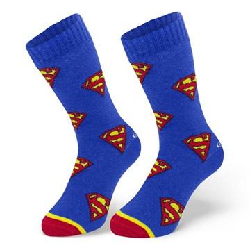 Kit 3 Pares de Meia Selene Liga da Justiça Superman Cano Longo Infantil