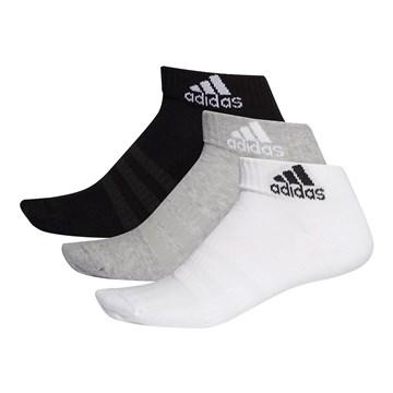 Kit 3 Pares de Meias Adidas Cushioned Ankle