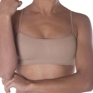 Kit 3 Tops Selene Sem Costura Infantil - Nude
