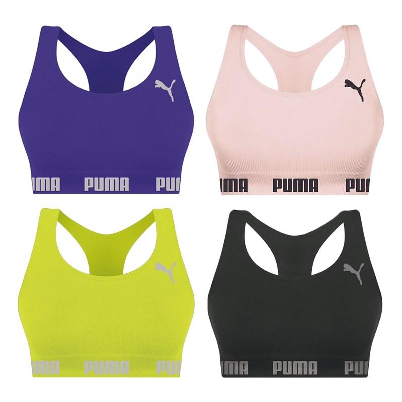 Kit 4 Tops Puma Nadador Sem Costura Feminino