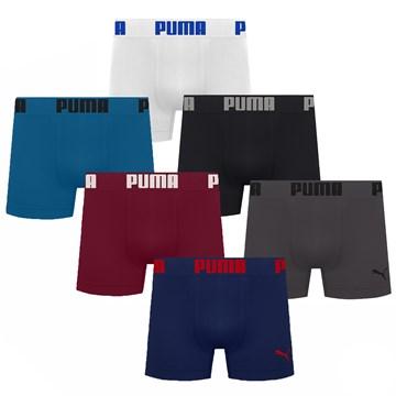 Kit 6 Cuecas Boxer Puma Sem Costura Masculino
