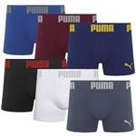 Kit 6 Cuecas Puma Boxer Sem Costura