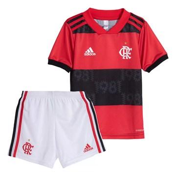 Kit Adidas Flamengo Oficial I 2021/22 Infantil