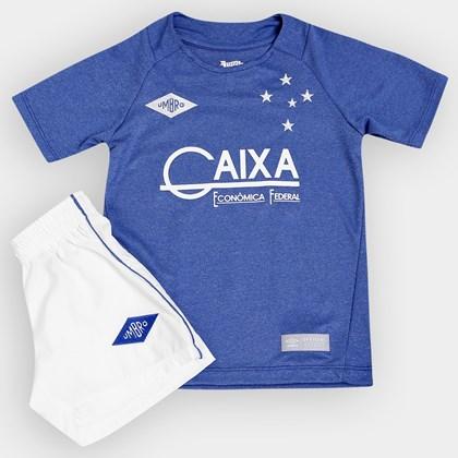 5718cd6744 Kit Infantil Cruzeiro Umbro Oficial 3 2016 - EsporteLegal