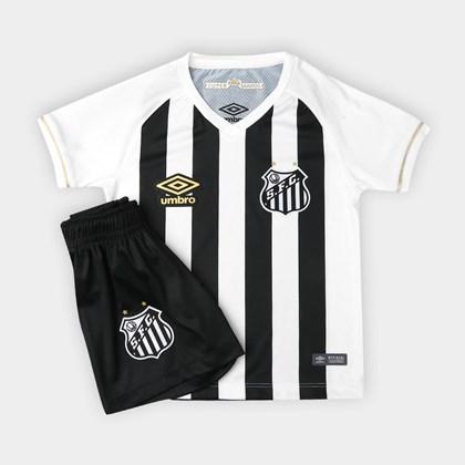 53a2f2be101 Kit Infantil Santos Umbro Oficial 2 2018 - EsporteLegal