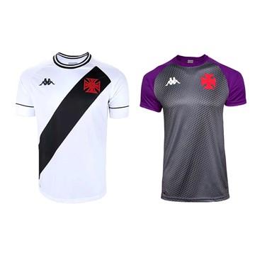 Kit Kappa 2 Camisas Vasco 2020 Away e Goleiro Masculino