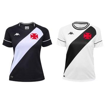 Kit Kappa 2 Camisas Vasco 2020 Home e Away Feminino