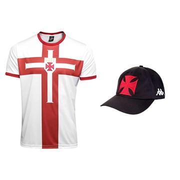 Kit Kappa Vasco 2020 Camisa Cross + Boné C.T Masculino