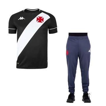 Kit Kappa Vasco 2020 Camisa I + Calça Treino C.T Masculino