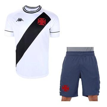 Kit Kappa Vasco 2020 Camisa II + Bermuda Treino  Masculino