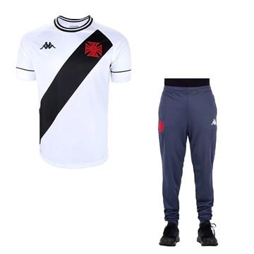 Kit Kappa Vasco 2020 Camisa II + Calça Treino C.T Masculino