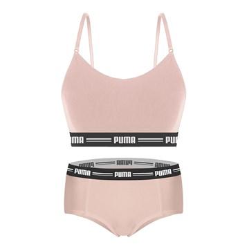 Kit Puma Top Modal Stretch + Calcinha Mini Boxer Feminino - Rosa
