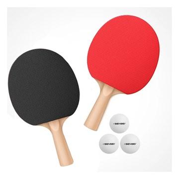Kit Sensei Tênis de Mesa 2 Raquetes e 3 Bolas
