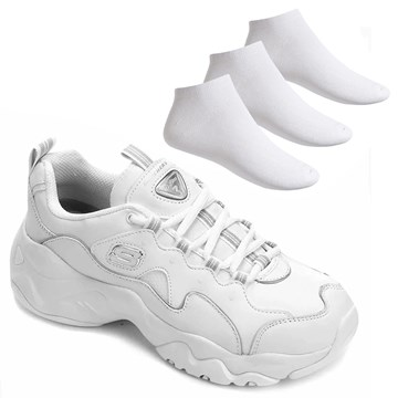 Kit Tênis Skechers D'Lites 3.0 Proven Force + 3 Pares de Meia