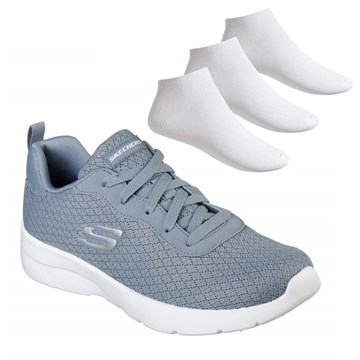 Kit Tênis Skechers Dynamight 2.0-Eye To Eye + 3 Pares de Meia Puma