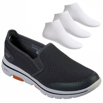 Kit Tênis Skechers Go Walk 5 Apprize Masculino + 3 Pares de Meia
