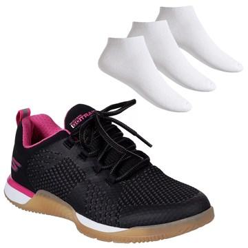 Kit Tênis Skechers Viper Feminino + 3 Pares de meia