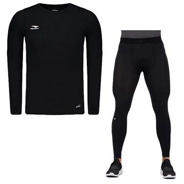 Kit Térmico Penalty Camisa Matís + Calça Flat Masculino