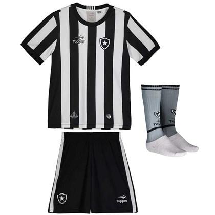 32adc9019d016 Kit Topper Botafogo Home Juvenil - Preto e Branco - Esporte Legal