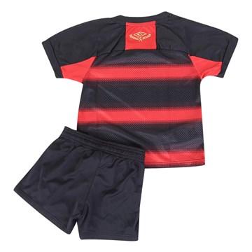 kit Umbro Sport Recife Oficial I 2020 Infantil - Preto e Vermelho