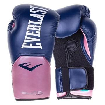 Luva de Boxe Everlast Treino Pro Style Elite V2 - Azul e Rosa