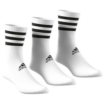 Meia Adidas 3 Stripes Cushioned Crew