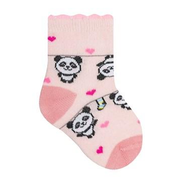 Meia Selene Bebê Meninas Panda - Rosa