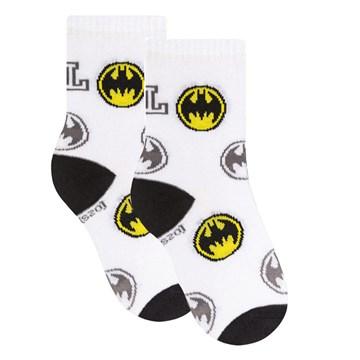 Meia Selene Liga da Justiça Batman Infantil - Branco e Preto