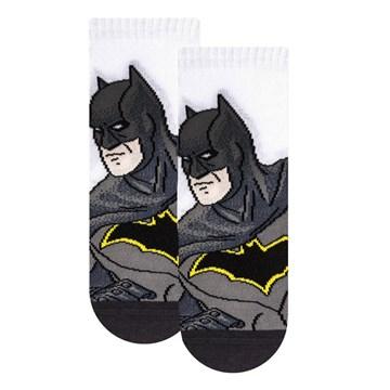Meia Selene Liga da Justiça Batman Infantil - Preto e Branco