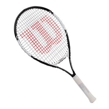 Raquete de Tênis Wilson Roger Federer 26 Juvenil - Preto e Branco