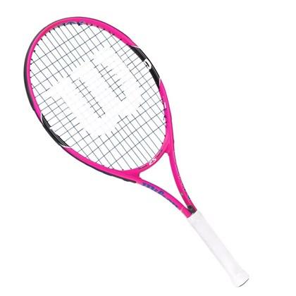 198754f30 Raquete Wilson Tenis Burn PK 25 Infantil - Rosa - Esporte Legal
