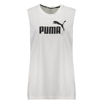 Regata Cavada Puma Essentials Logo Feminina - Branco