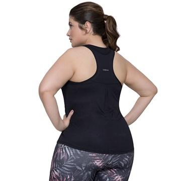 Regata Selene Fitness Plus Size Feminina - Preto