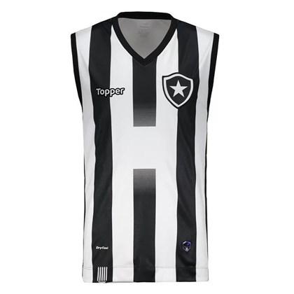 Regata Topper Basquete Botafogo I 2017 - Branco e Preto - Esporte Legal f503d28bc4fed