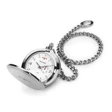 Relógio de Bolso Technos Classic Heritage Prata 1L45BA/1B