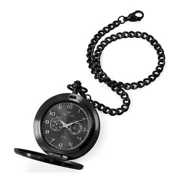 Relógio de Bolso Technos Classic Heritage Preto VD77AB/4P