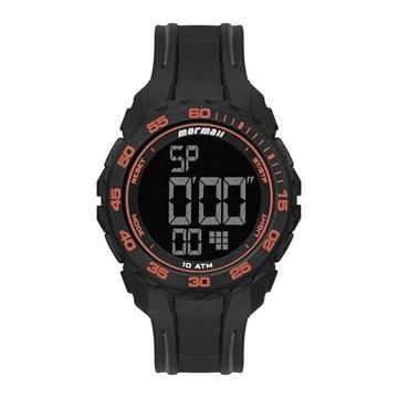 Relógio Mormaii Digital Wave MO18769AB/8L Masculino - Preto e Laranja