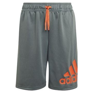 Short Adidas Designed 2 Move Infantil - Chumbo e Laranja