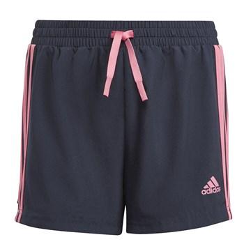Short Adidas Designed To Move 3-Stripes Infantil - Marinho e Rosa