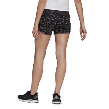 Short Adidas Estampado Sportswear Badge of Sport Feminino - Preto e Branco