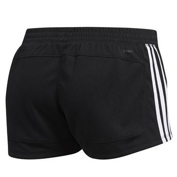 Short Adidas Malha Pacer 3 Stripes Feminino - Preto