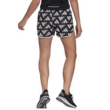 Short Adidas Marathon 20 Celebration Feminino - Branco e Preto