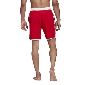 Short Adidas Natação 3 Stripes CLX Masculino - Vermelho